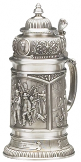 OLD MASTERS PEWTER STEIN