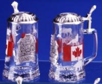 Canada Canadian Flag Glass German Beer Stein