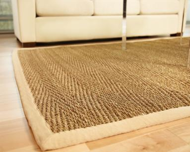 4'x6' Saddleback Seagrass Rug