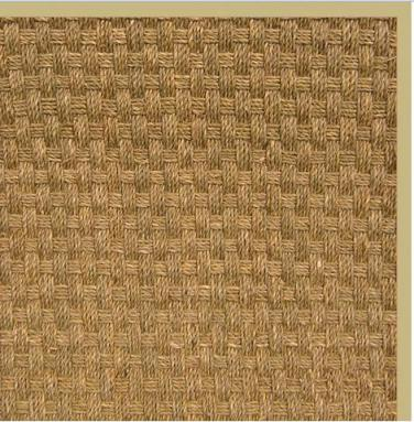 3' x 5' Seagrass w/latex backing, Khaki cotton border