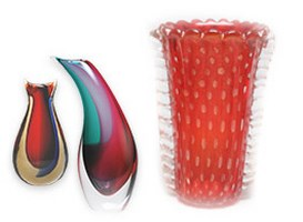 Murano Glass Vases