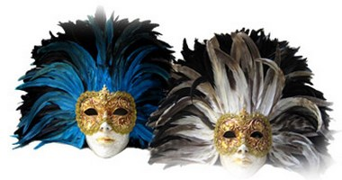 Full Face Feather Masks