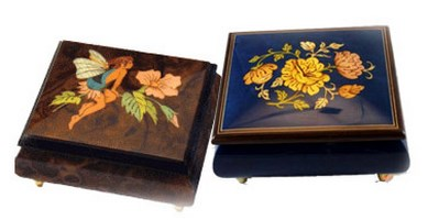 Floral Music Boxes