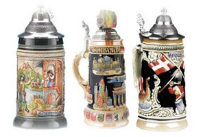 German Heritage Beer Steins