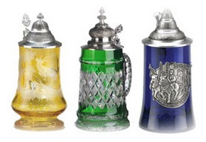 Crystal Glass Beer Steins