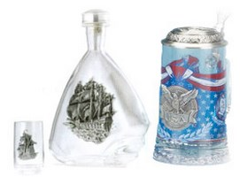 German Heritage Glass Beer Steins