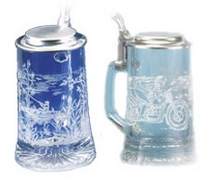 Sports & Hobbies Glass Beer Steins
