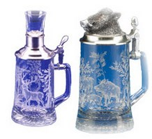 Wildlife Glass Beer Steins