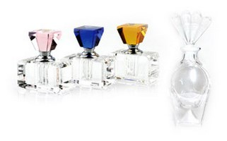 Crystal and Glass Perfume Bottles