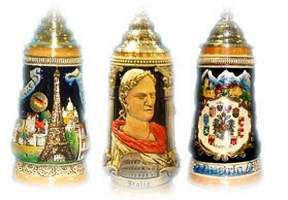 European Countries Theme German Beer Steins