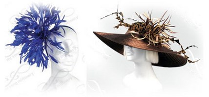 Feathered Church Hats