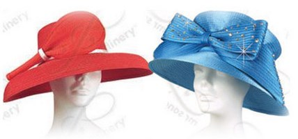 Medium Brim Traditional Church Hats