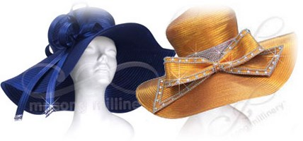 Wide Brim Church Hats