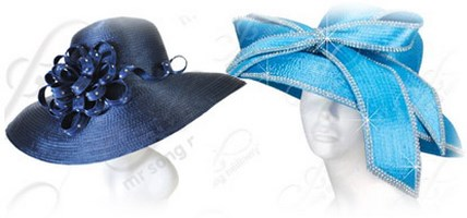 Rounded Crown Top Stylish Church Hats