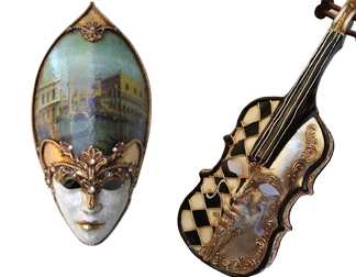 Venetian Masks – Wall Decor