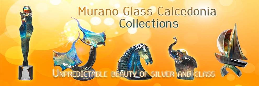 Murano Glass Gifts - Calcedonia collections. Beautiful italian glass – sculptures, animals,