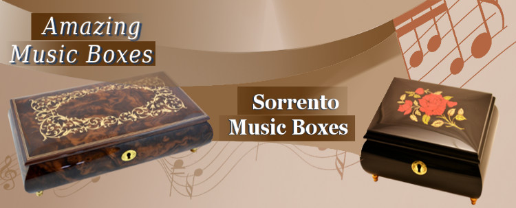 Sorento Music Boxes – only handcrafted gifts from italian masters.