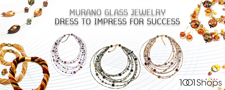 Murano Glass Jewelery - luxury Gifts for her. Bead Necklace, Bracelets, Earrings, Necklaces, Pendants.