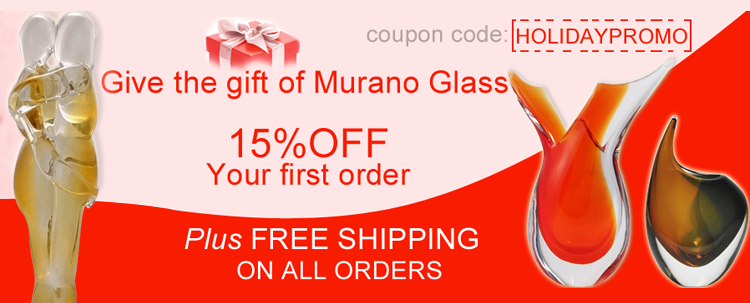Murano Glass - Valentine. Gifts for Her and Him.