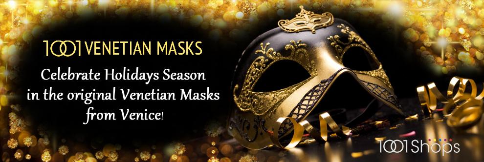 Christmas - Masks of Venetian - masquerate masks, carnival masks, italy masks.