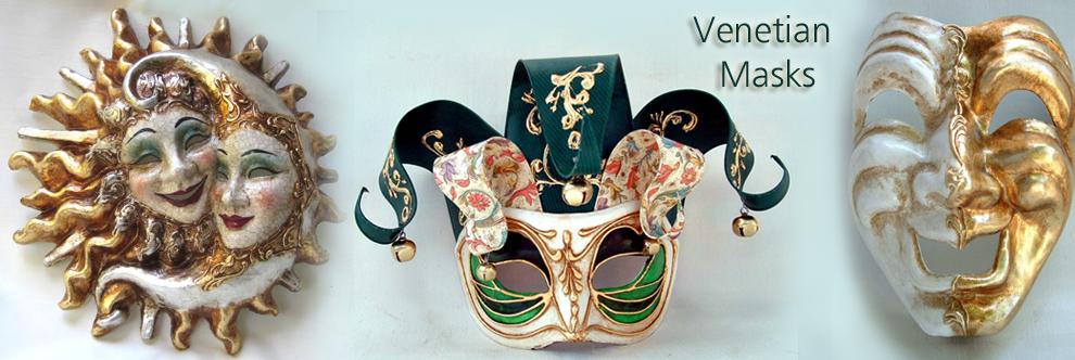 Masks of Venetian - masquerate masks, carnival masks, italy masks.
