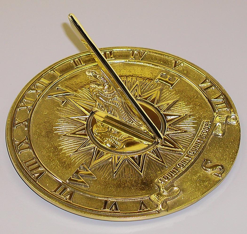 Brass Nautical Sundial (Solid Polished Brass)