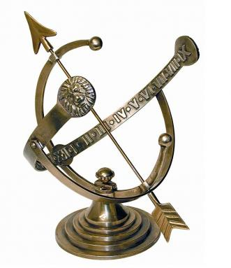 Brass Armillary Sundial (Solid Polished Brass)