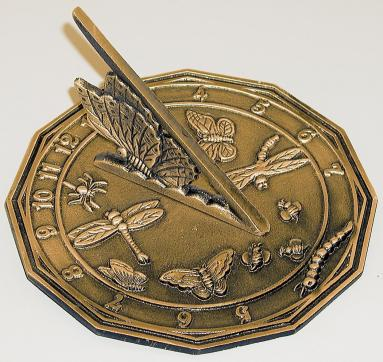 Brass Butterfly Sundial (Solid Brass w/Antique Finish)