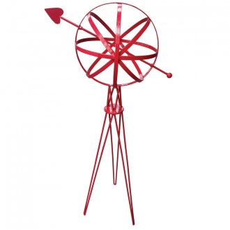 Sphere w/Hairpin Base (Red Finish)