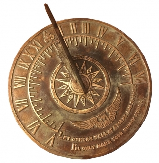 Solid Brass Colonial Sundial