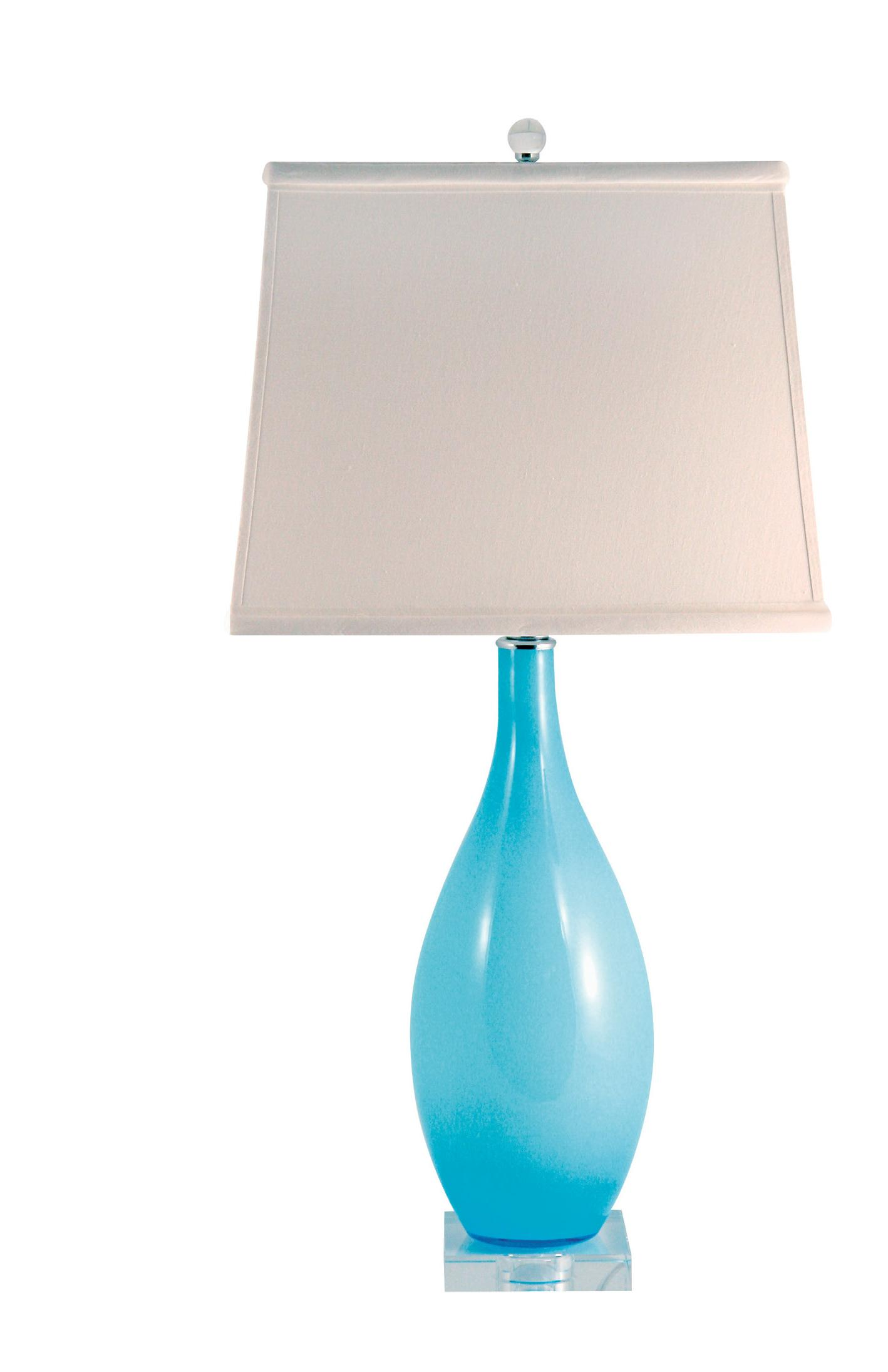 aqua blue glass table lamp table lamps 1001shops co. Black Bedroom Furniture Sets. Home Design Ideas