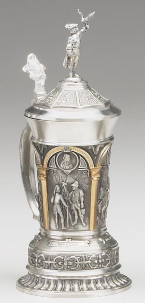 PEWTER FALCONER BEER STEIN