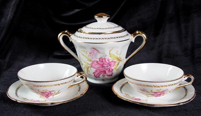 Limoges porcelain, tea set
