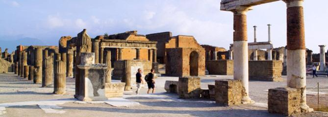 Siren temple in Sorrento, Italy