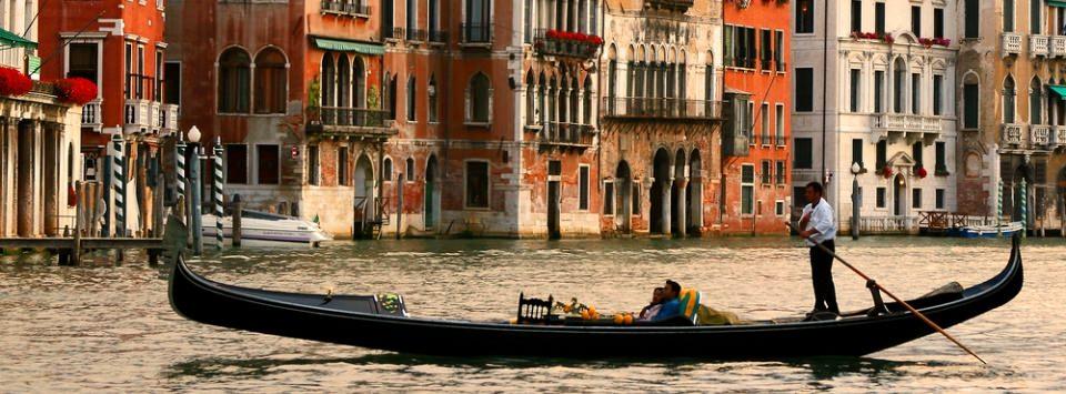 Gondolas - classical Venetian boats