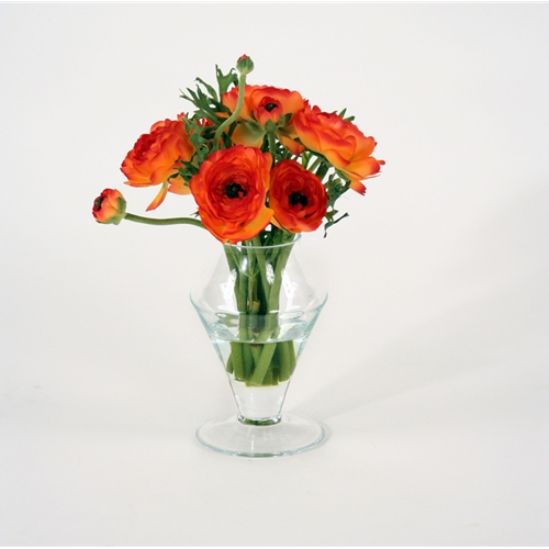 Waterlook ® Silk Orange Ranunculus in a Glass Ginger Jar (Pack of 2)