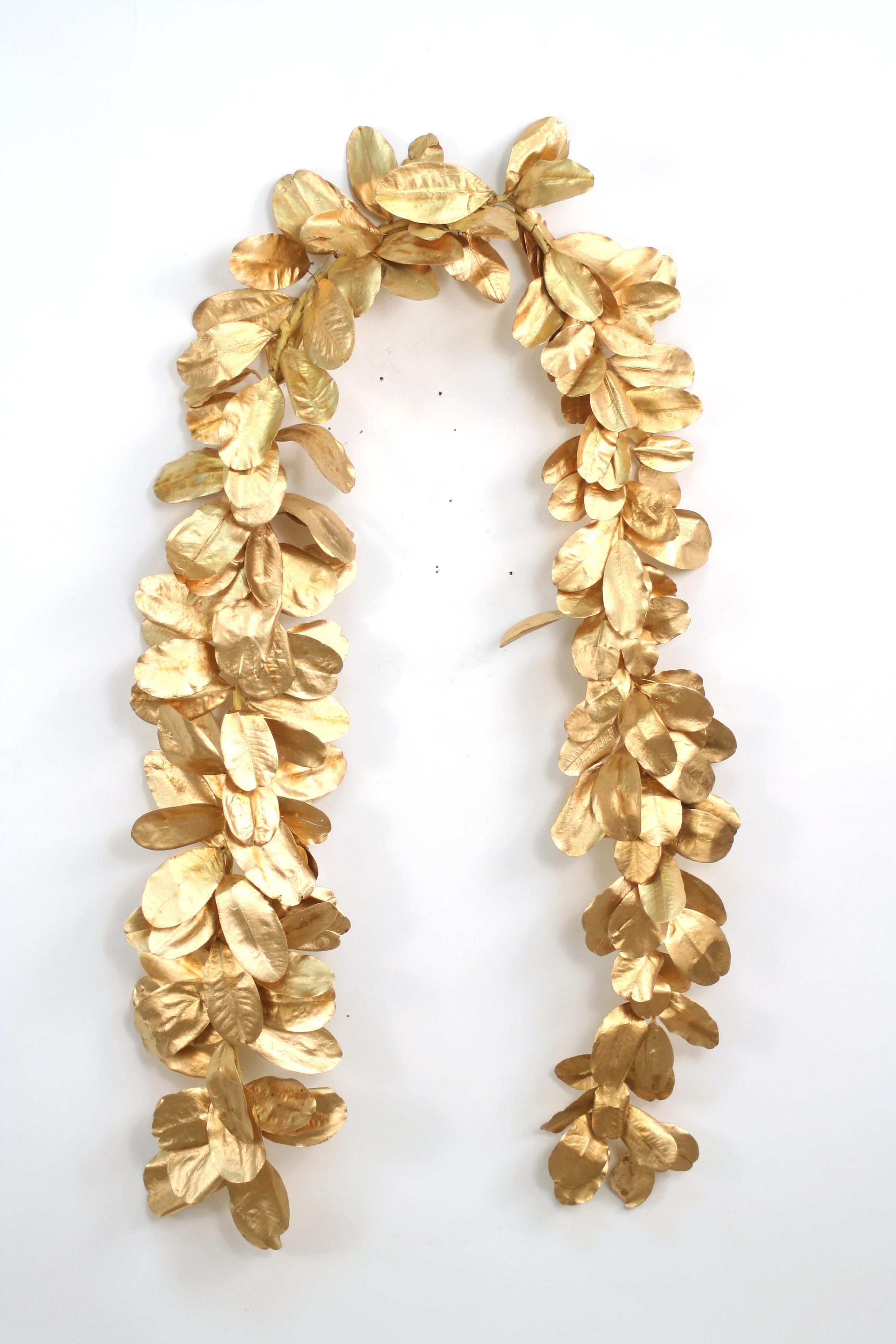 Garland 96 39 Gold Laurel Leaf Natural Garland Free