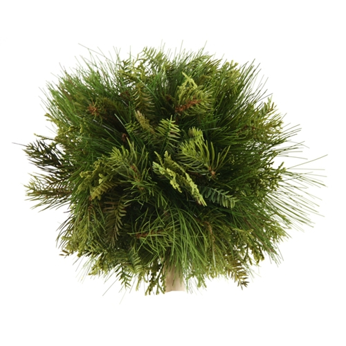 10' Artificial Mixed Pine Ball with Cedar (Pack of 2; 6/cs)