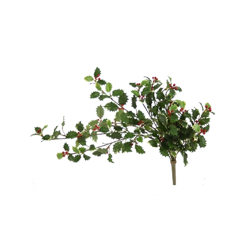 Artificial Holly Bush Vine x 12 with 234 Leaves (Pack of 6; 48/cs)