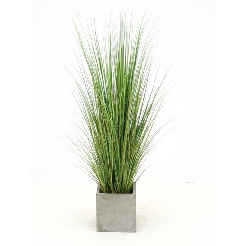 Artificial mixed green grass floor plant in square for Green floor plant