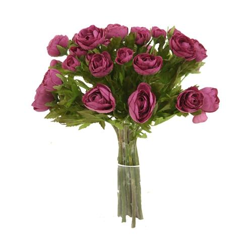 Silk Flower Bouquets Do Yourself: DIY Bouquet Purple Ranunculus Bouquet X 18