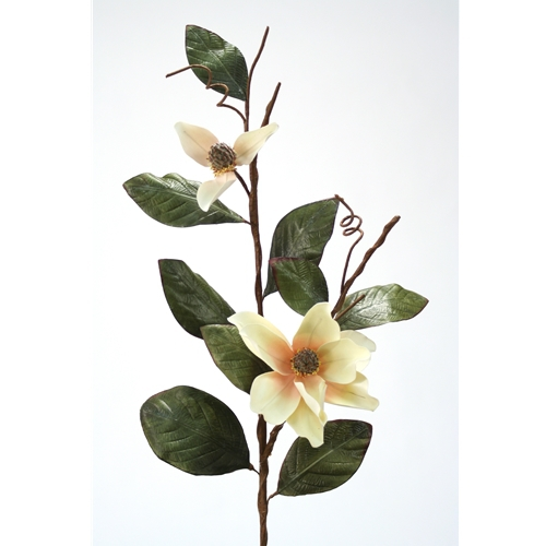 DIY Flower Small White Blush Magnolia x 2 Branch