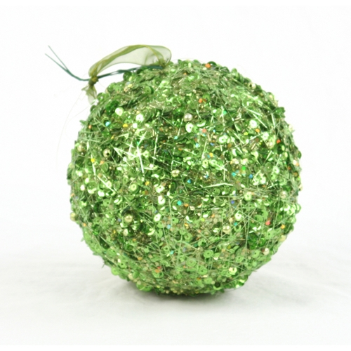 Ornament - 6' Green Sequin Ball (Pack of 2; 24/cs)
