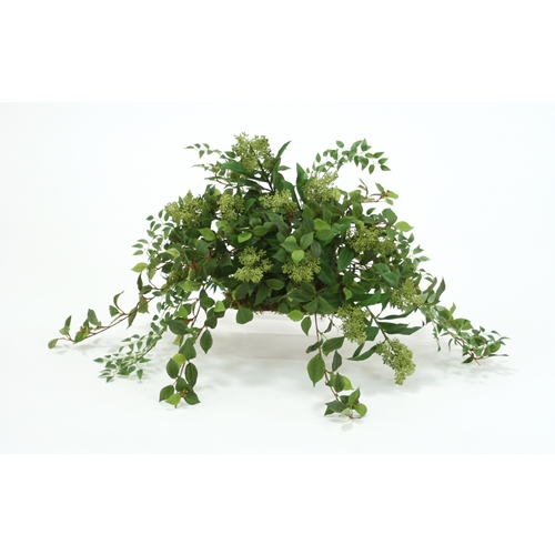 Silk Greenery Arrangement on Plant Topper | Free Shipping ...