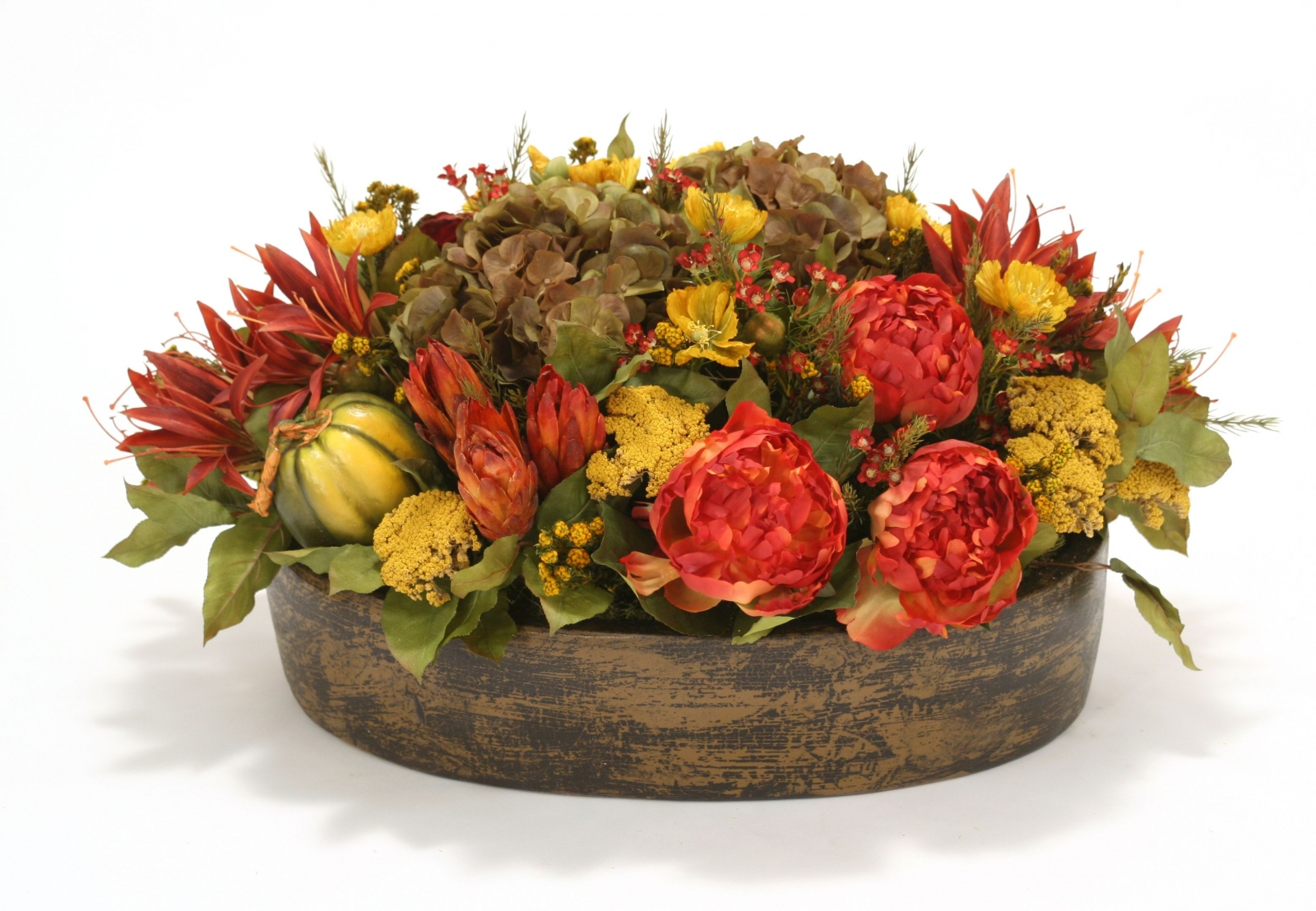 Autumn Meadow Mix in Oval Stone Pot