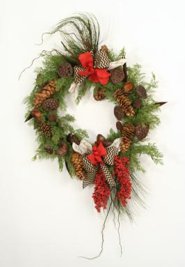 Woodland Treasure - 51' Pod & Cone Cedar Wreath