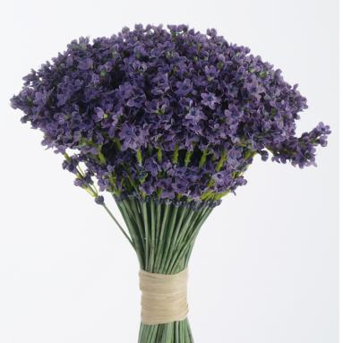 DIY Bouquet 14'L Artificial Lavender Bouquet (Pack of 6; 24/Case)