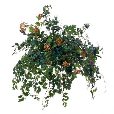 Mixed Grape Ivy and Berries Topper in Wicker Basket