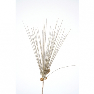 20'L Artificial Glitter Needle Pine Spray with Miniature Pine Cones