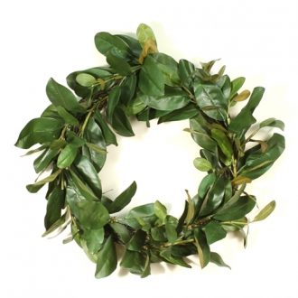 24' Artificial Magnolia Leaf Wreath